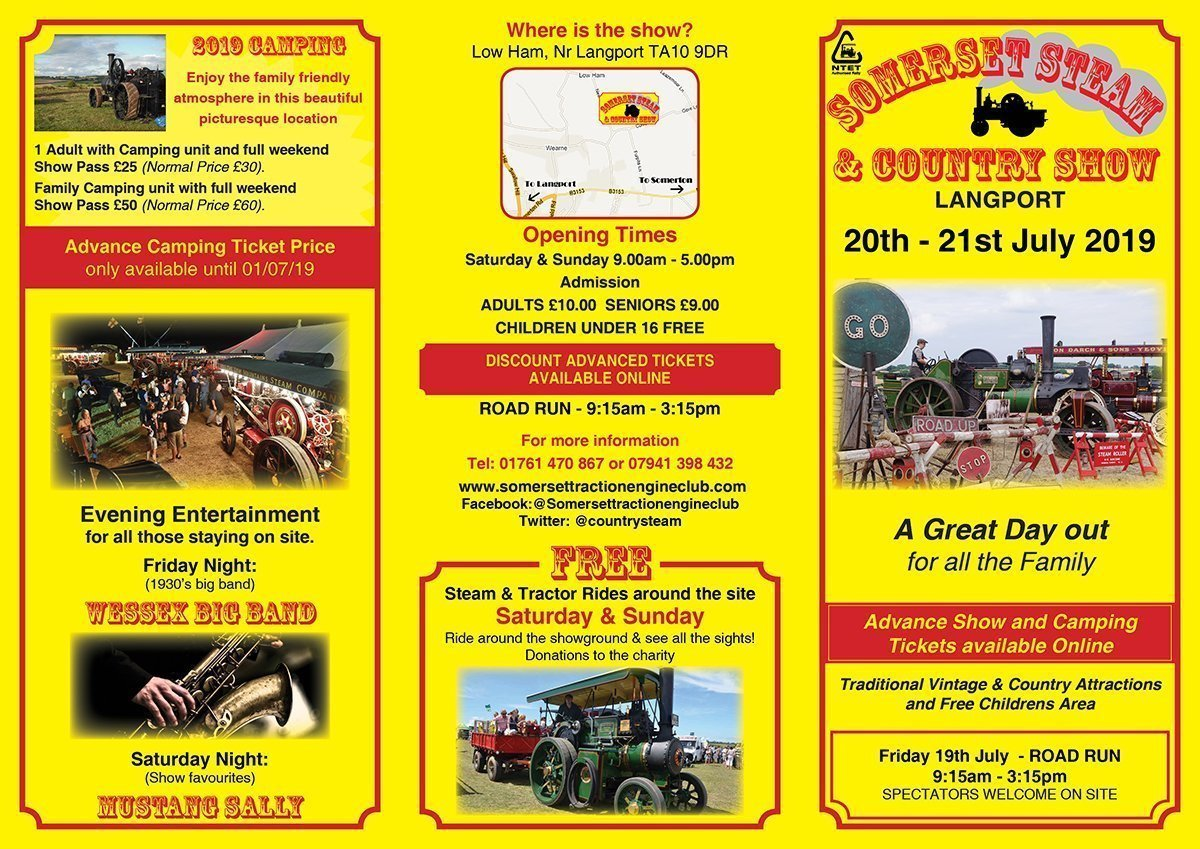 Somerset Traction Engine Show 2019 programme of events