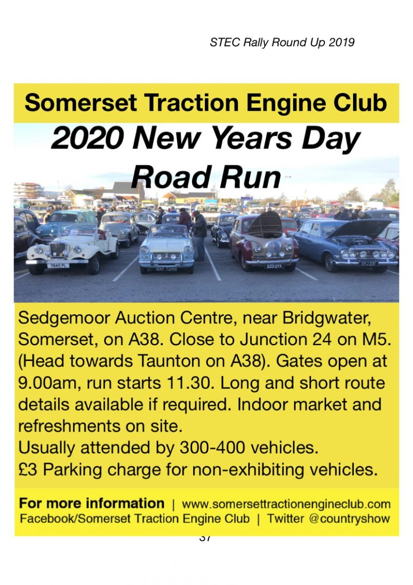 Somerest Traction Engine CLub - 2020 New Years Day Road Run