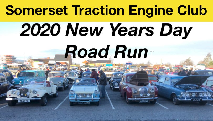 Somerset Traction Engine CLub - 2020 New Years Day Road Run